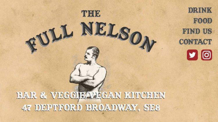 New website for The Full Nelson pub in Deptford