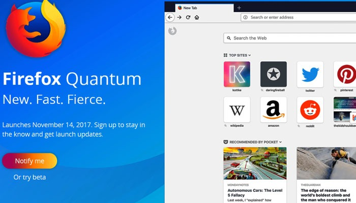 Mozilla launching Firefox Quantum next month