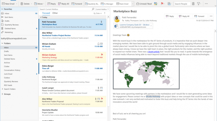 New look coming to Outlook very soon - Direction Forward